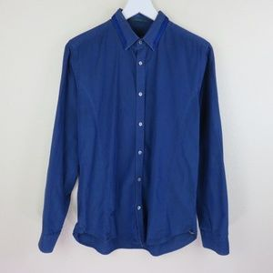 Ted Baker Blue Button Up Dress Shirt